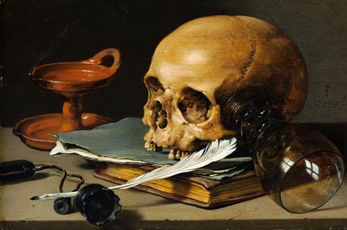 Клас Питер: Натюрморт с черепом