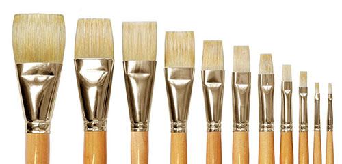 Как выбрать кисти для живописи масляными красками